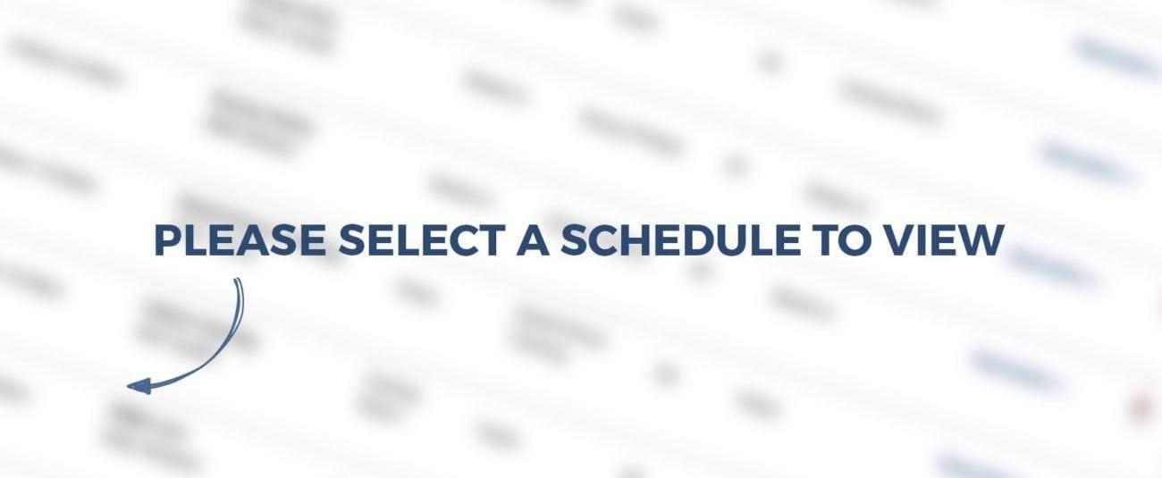 CHHRC Schedules