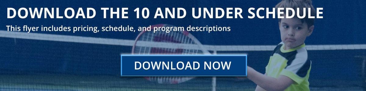 10 and Under Tennis Schedule Download Button