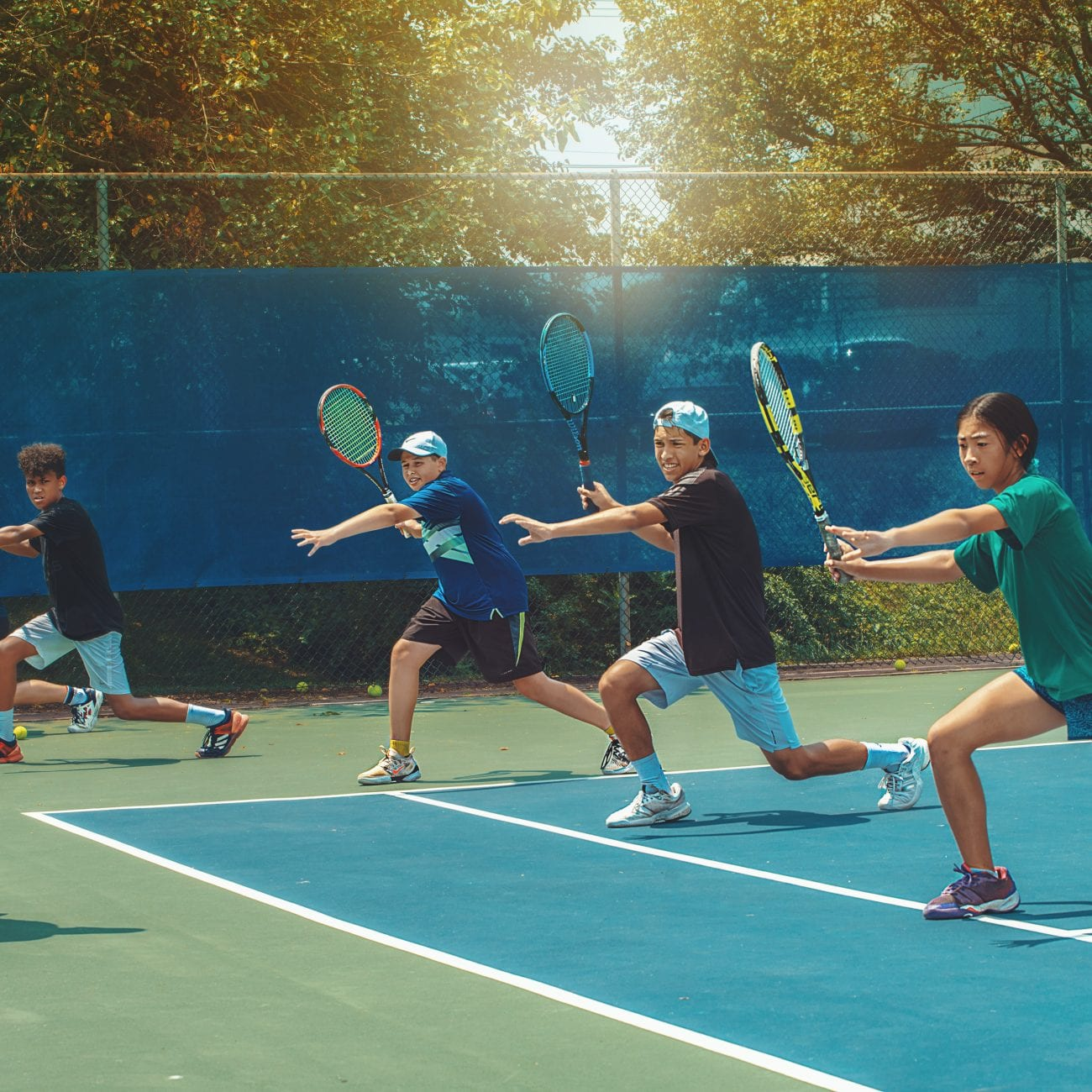 Junior tennis lessons in Cherry Hill